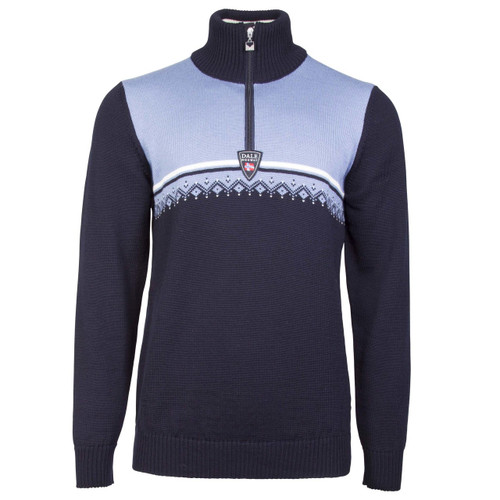 Dale of Norway Lahti Sweater, Mens - Navy/Blue Shadow/Off White, 93241-D
