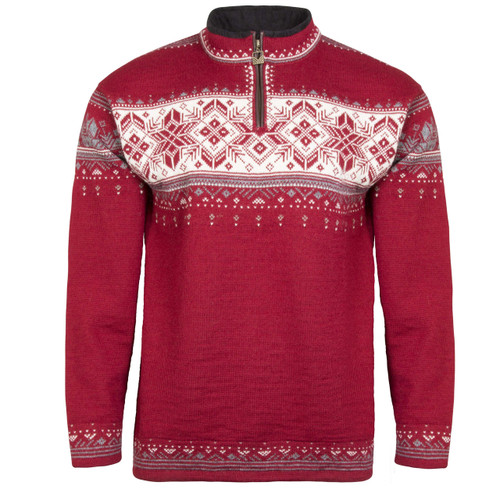 Dale of Norway Blyfjell Sweater - Red/Rose/Off-White/Mountainstone/Smoke, 91291-C