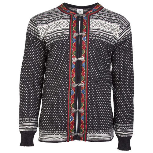 Dale of Norway New Setesdal Cardigan - Black/Off White, 83291-F