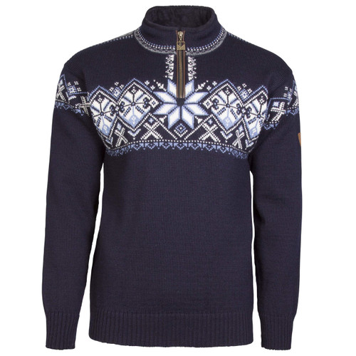 Dale of Norway Geiranger Sweater- Navy/Smoke/Off White/Blue Shadow, 93681-C