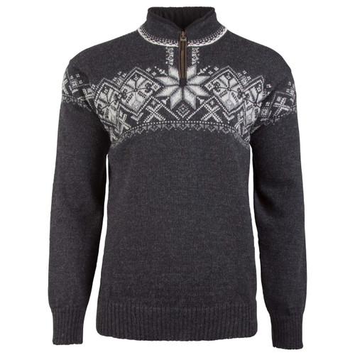 Dale of Norway Geiranger Sweater- Dark Charcoal/Smoke/Light Charcoal/Off White, 93681-E