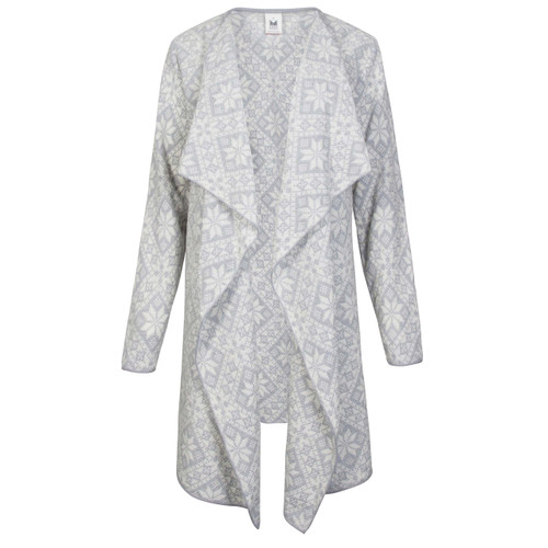 Dale of Norway, Flora Jacket, Ladies in Grau Vig/Off White, 83371-T