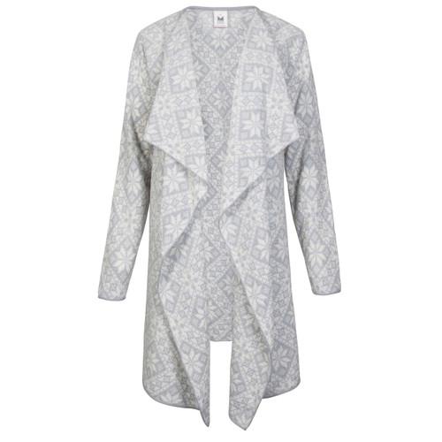 Dale of Norway Flora Jacket, Ladies - Smoke Grey/Off White, 83371-T