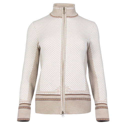 Dale of Norway, Viktoria  cardigan, ladies, in Reh Vig/Off White/Bronze Mele/Bitter Chocolate, 83151-I, on sale at The Nordic Shop