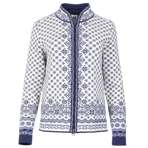 Dale of Norway, Solfrid Cardigan, Ladies, in Off White/Electric Storm/Navy/Ice Blue, 83341-A