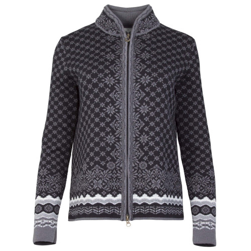 Dale of Norway, Solfrid Cardigan, Ladies, in Black/Schiefer/Grau Vig/Off White, 83341-F