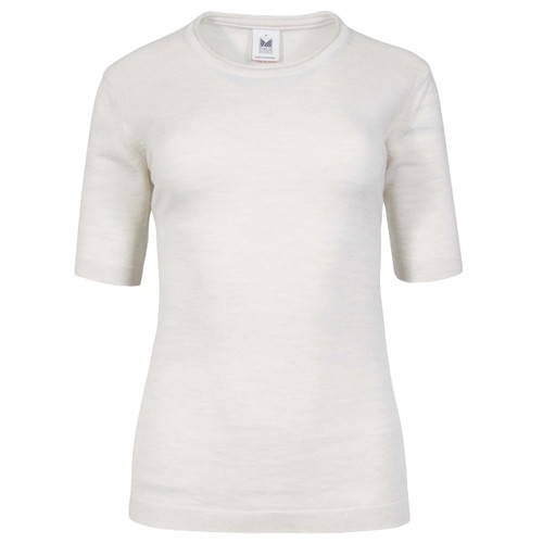 Dale of Norway Stjerne Ladies T-shirt, in Off White Mel/Light Grey Mel