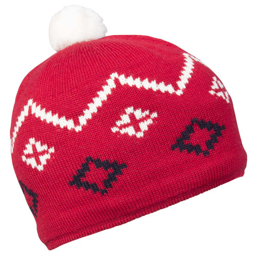 Dale of Norway Seefeld hat, Raspberry/Navy/Off White, 48131-B