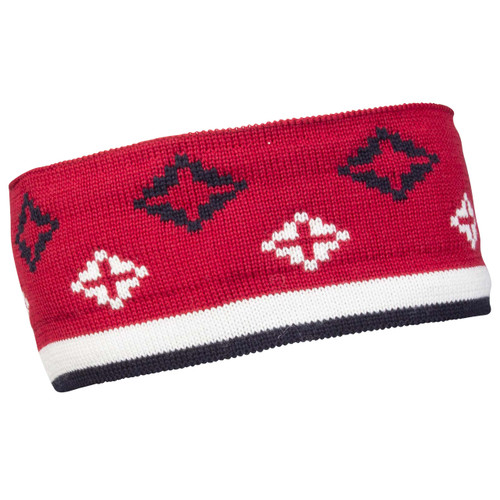 Dale of Norway Seefeld Hat - Raspberry/Navy/Off White 26011-B