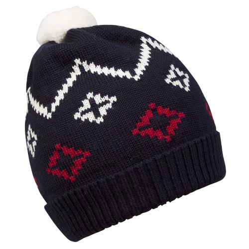Dale of Norway Seefeld Kids Hat 4-8 - Navy/Raspberry/Off White 48241-C