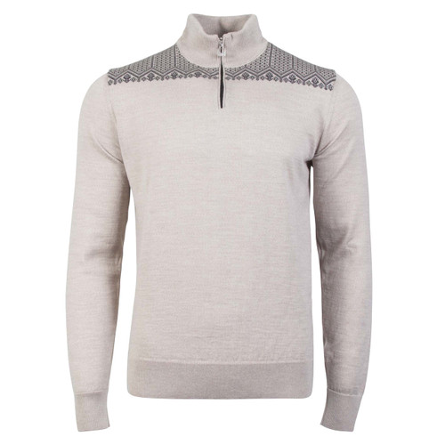 Dale of Norway, Anniversary sweater, unisex, in Sand Mel/Dark Grey Mel, 93851-P