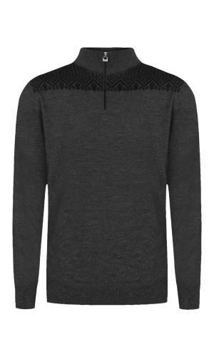 Dale of Norway Eirik Men's Sweater - Dark Grey Mel/Black, 93851T