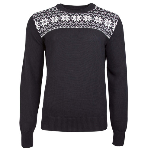 Dale of Norway, Garmisch Sweater, Mens, in Black/Dark Charcoal/Off White, 92611-F