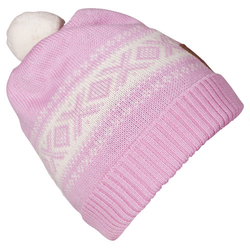 Dale of Norway Cortina Kids Hat 4-8 - Pink Candy/Off White, 43341-I