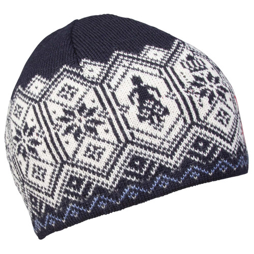 Side View of Dale of Norway Norge Hat - Light Navy/Blue Shadow/Raspberry/Off White/Smoke/Light Charcoal, 48171-C