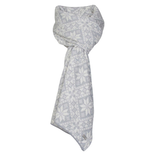 Dale of Norway Flora Scarf - Light Grey Mel/Off White Mel, 11681-T