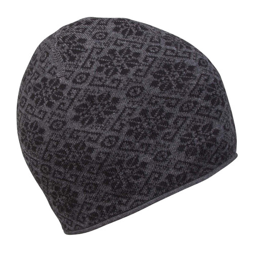 Dale of Norway Sonja Hat - Dark Grey Mel/Black, 48161-F