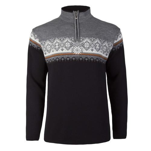 Dale of Norway Moritz pullover, mens, in Black/Orange Peel/Off White/Smoke, 91391-J