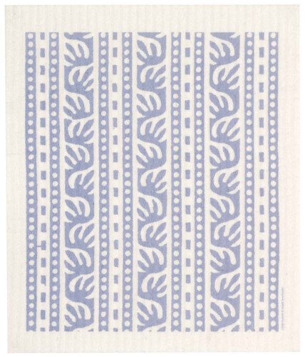 Swedish dish cloth, Blue Batikk design