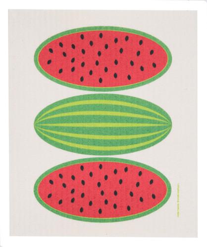 Swedish dish cloth, Watermelon design