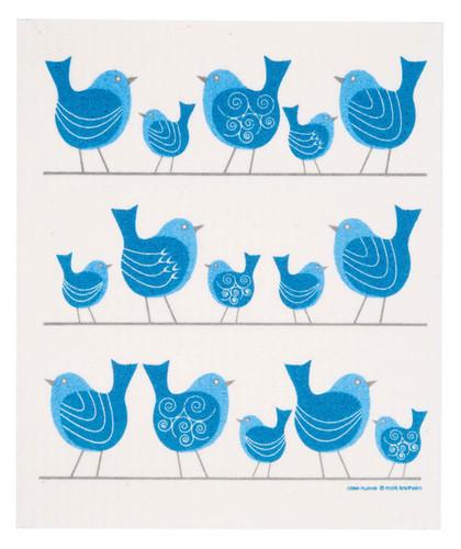 Swedish dish cloth, Birds on a Wire design