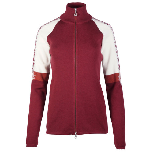 Dale of Norway Geilo Cardigan, Ladies, in Ruby Mel/Off White/Rust Mel