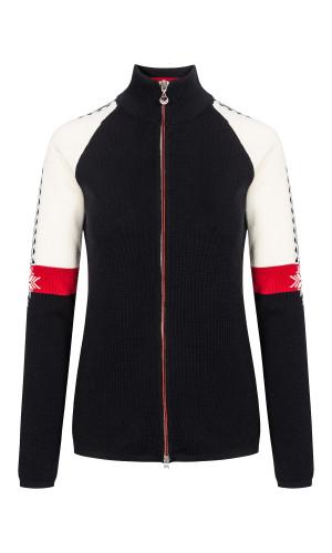 Dale of Norway Geilo Jacket, Ladies, in Black/Off White/Raspberry