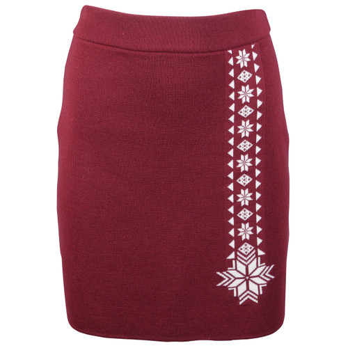 Dale of Norway Geilo Skirt in Ruby Melange, 62041-V