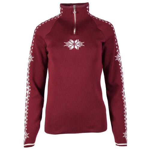 Dale of Norway Geilo Ladies' Sweater in Ruby Melange 82311-V