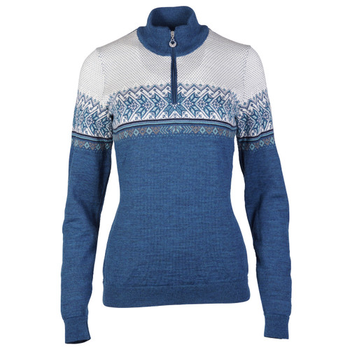 Dale of Norway, Hovden Sweater, Ladies, in Sea Melange/Turquoise/Smoke/Navy/Off White, 93451-G