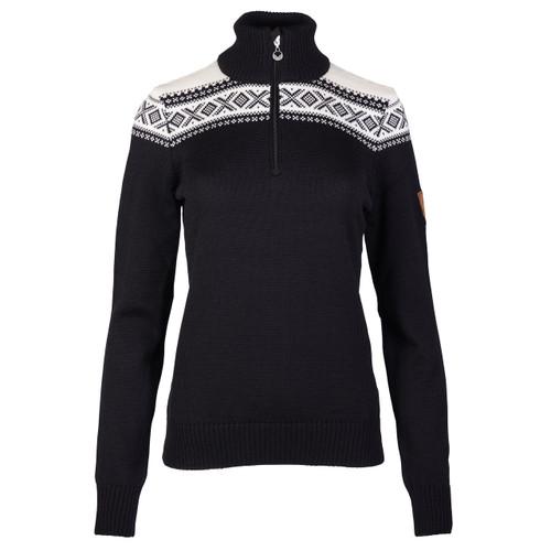 Dale of Norway Cortina Merino sweater in Black/Off-White, 93811-F