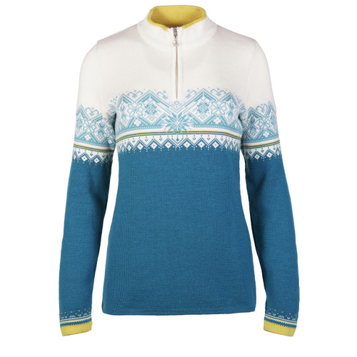 Ladies' Dale of Norway Moritz Pullover in Arctic Blue/Off White/Sweethoney/Turquoise, 91461-G