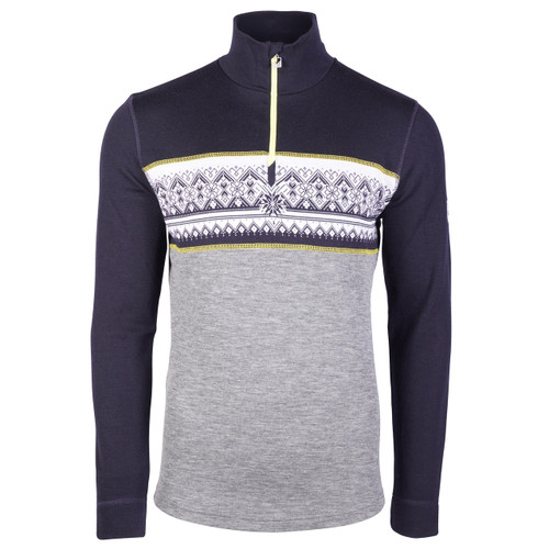 Dale of Norway Rondane Pullover, Mens - Smoke/Navy/Yellow, 92691-Q
