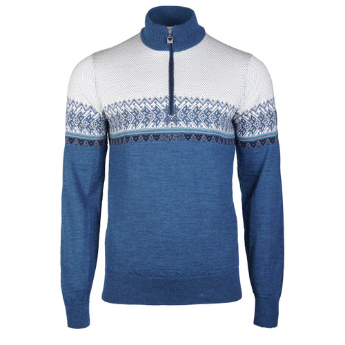 Dale of Norway Men's Hovden Sweater in Sea Melange/Smoke/Navy/Turquoise/Off White, 93441-G