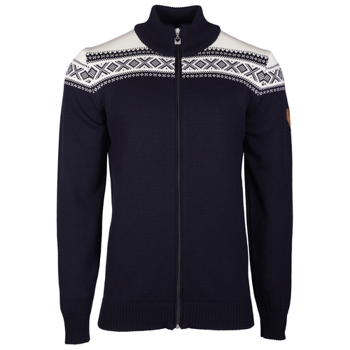 Dale of Norway Men's Cortina Merino Cardigan in Navy/Off White, 83321-C