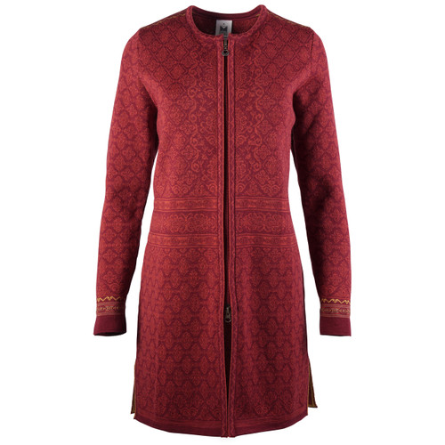 Dale of Norway Ingeborg Cardigan, Ladies - Ruby Melange/Rust Melange/Mustard/Bronze Melange, 83521-V