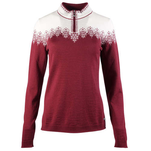 Dale of Norway Snefrid Sweater, Ladies - Ruby Melange/Off White, 93431-V