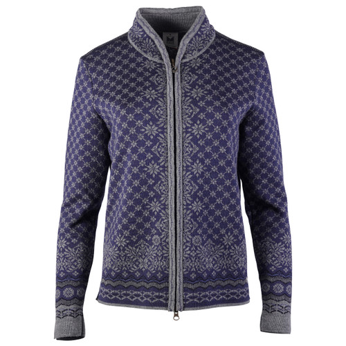 Dale of Norway Solfrid Cardigan, Ladies - Smoke/Electric Storm/Navy/Indigo, 83341-H