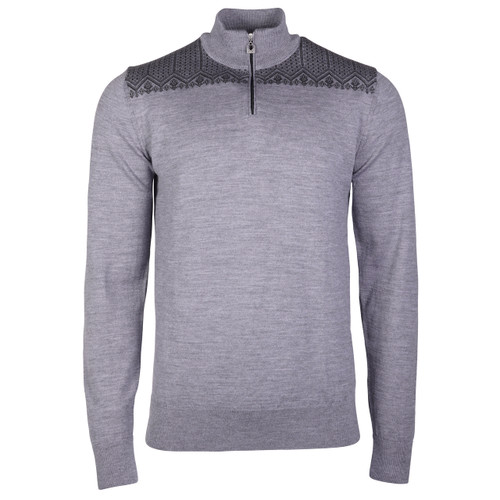 Dale of Norway Eirik Pullover - Smoke/Dark Charcoal, 93851-E