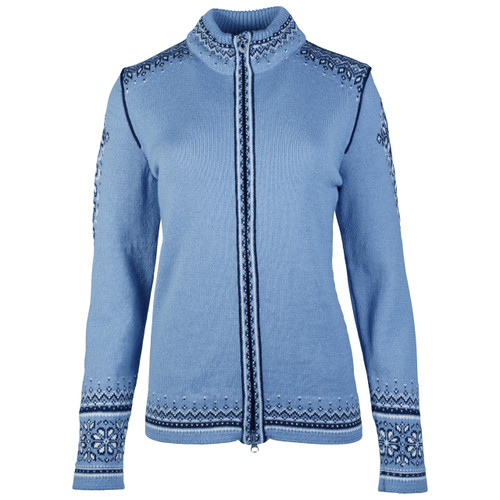 Dale of Norway 140th Anniversary Cardigan, Ladies - Blue Shadow/Off White/Navy, 83481-D