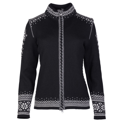 Dale of Norway 140th Anniversary Cardigan, Ladies - Black/Off White/Smoke, 83481-F