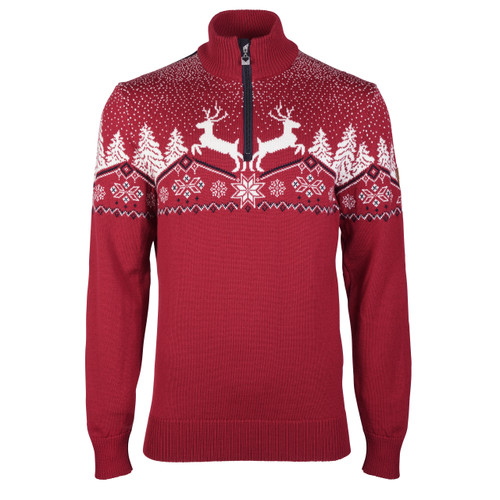 Dale of Norway Dale Christmas Sweater, Mens - Red Rose/Off White/Navy, 93931-B