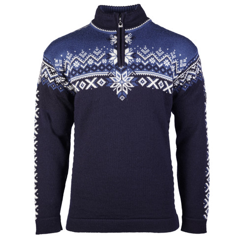 Dale of Norway 140th Anniversary Sweater, Mens - Navy/Indigo/Off White, 93951-C