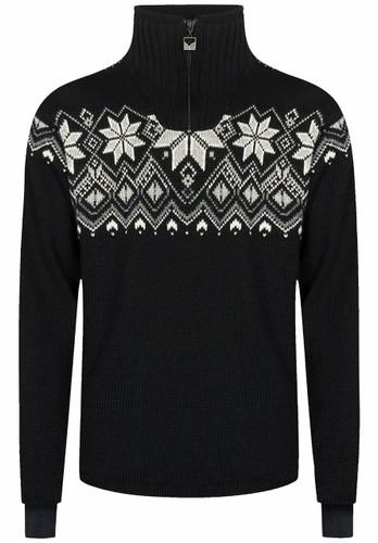 Dale of Norway Fongen Windstopper Sweater, Mens - Black/Off White/Smoke/Light Charcoal, 93971-F