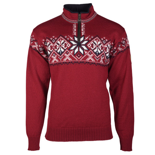 Dale of Norway Geiranger Sweater- Red Rose/Off White/Navy/Smoke, 93681-