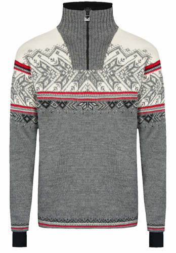 Dale of Norway Vail Weatherproof Sweater, Mens - Smoke/Raspberry/Off White/Dark Charcoal/Light Charcoal, 93981-T