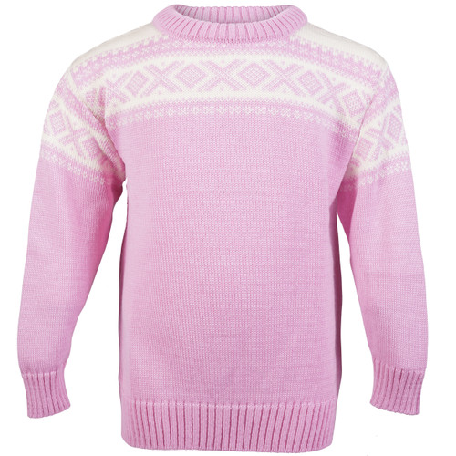 Dale of Norway, Cortina childrens sweater in Pink Candy/Off White, 92991-I