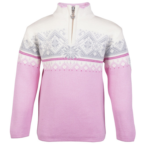 Dale of Norway Moritz Sweater, Childrens - Pink Candy/Off White/Fuchsia/Grey, 9150-Q