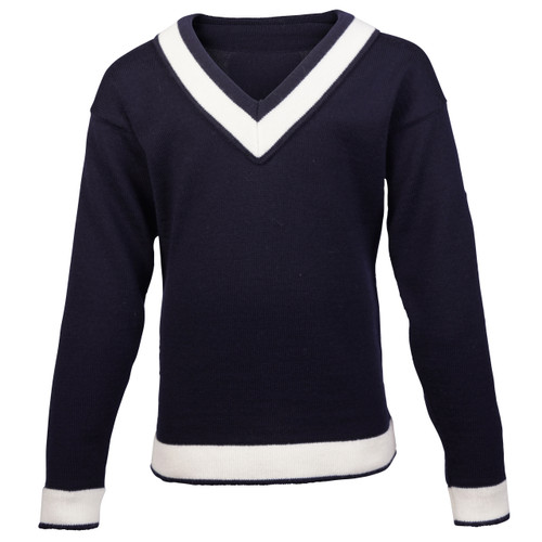 Dale of Norway Morgedal Sweater, Childrens - Navy/Off White, 94031-C
