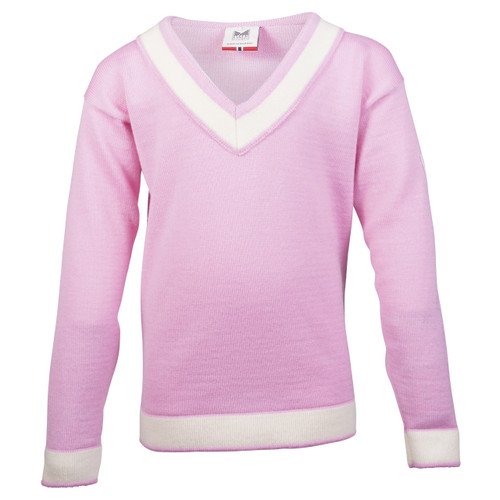 Dale of Norway Morgedal Sweater, Childrens - Pink Candy/Off White, 94031-I